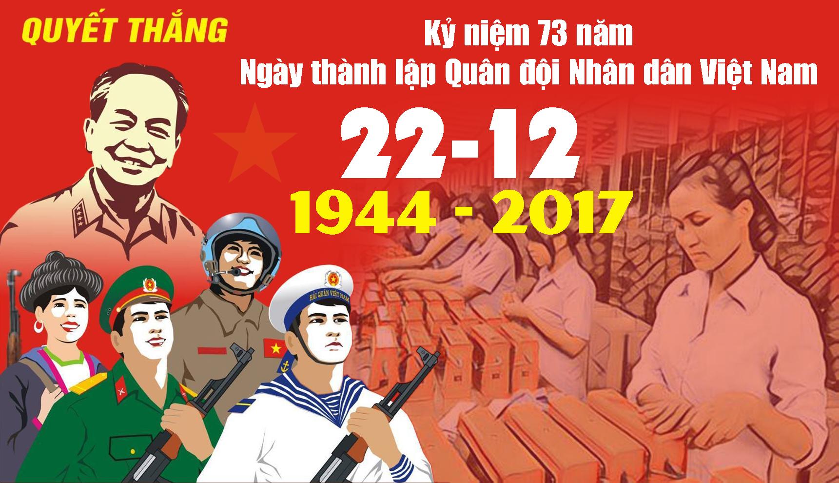 Đề cương tuyên truyền kỷ niệm 73 năm ngày thành lập Quân đội Nhân dân Việt Nam (22/12/1944-22/12/2017) - Quận Đoàn 12